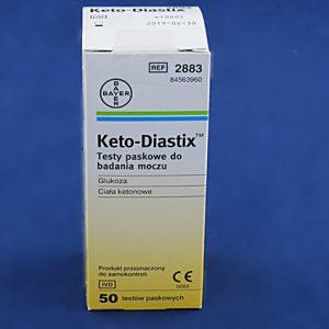 Testy paskowe do badania moczu Keto-Diastix